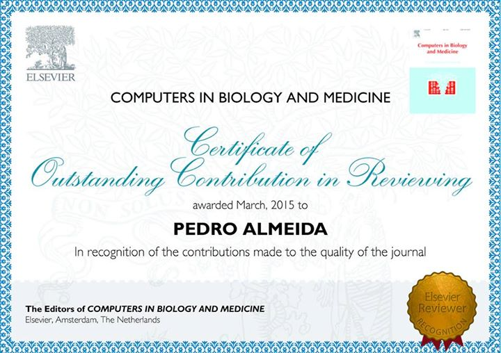 Certificado de Outstanding Contribution in Reviewing